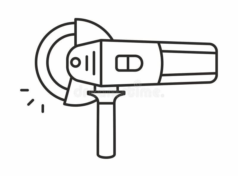 Icône de broyeur d'angle illustration stock