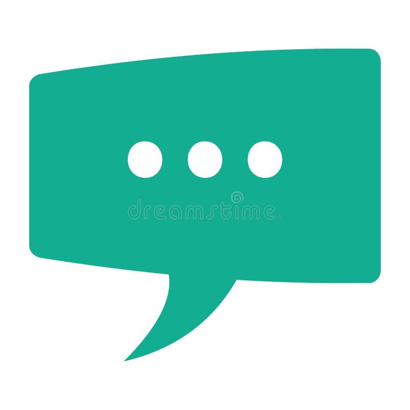 icône de bulle de conversation illustration libre de droits