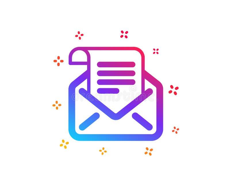 Ic?ne de bulletin d'information de courrier Lisez le signe de correspondance de message Vecteur illustration libre de droits