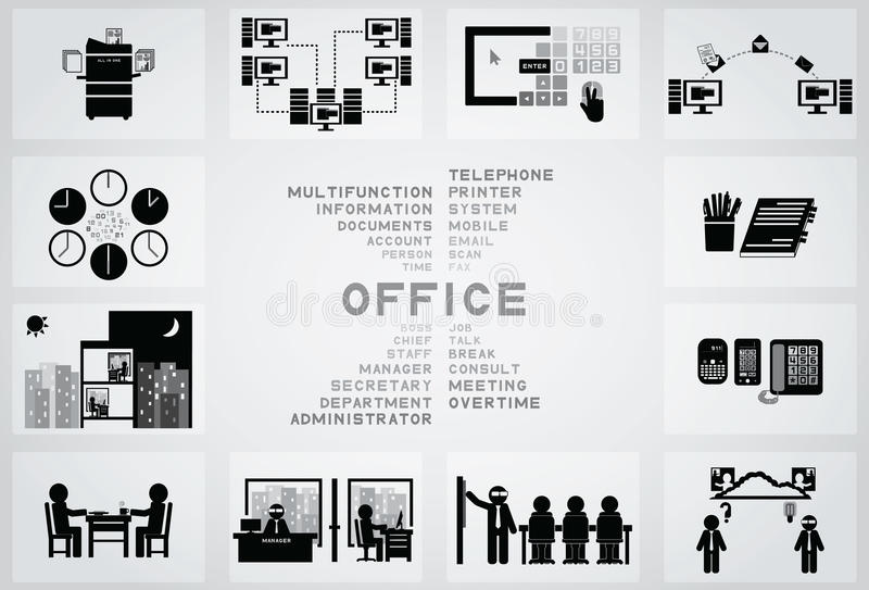 Icône de bureau illustration libre de droits