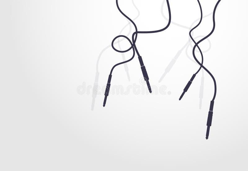 Icône de câble de Jack illustration libre de droits