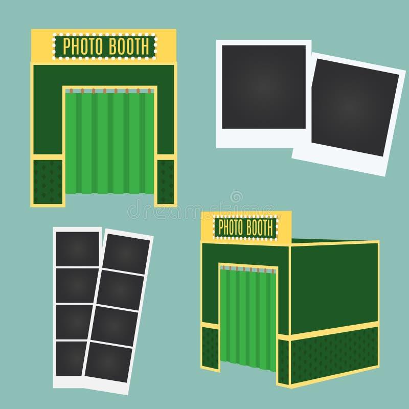 Icône de cabine d'appartement et de photo 3d Élément d'Infographic Cadres classiques de photo illustration stock