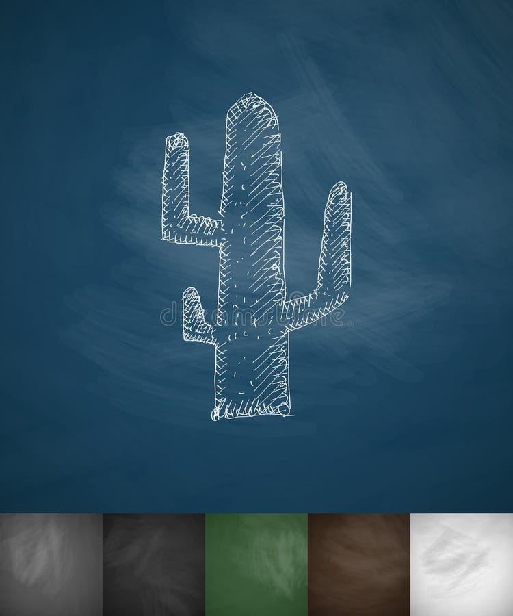 Icône de cactus Illustration tirée par la main de vecteur illustration de vecteur