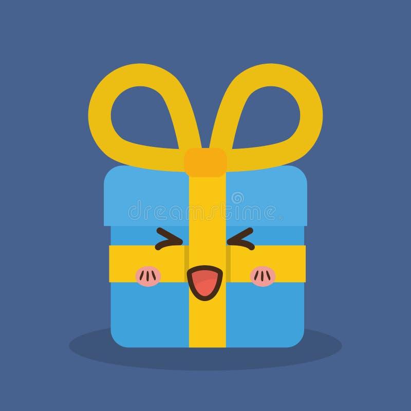 Cadeau De Kawaii Conception De Joyeux Noël Dessin De Vecteur