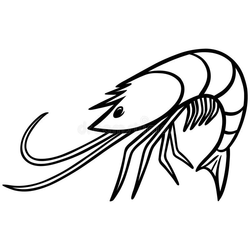 Icône de café de crevette illustration de vecteur