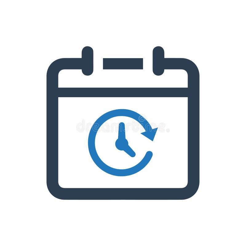 Icône de calendrier illustration stock