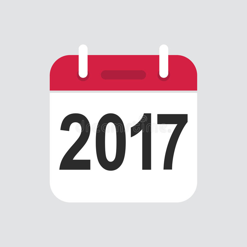 Icône de 2017 calendriers illustration de vecteur