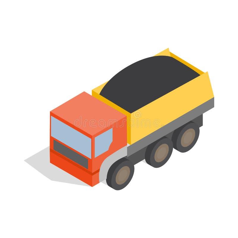 Icône de camion à benne basculante, style 3d isométrique illustration libre de droits