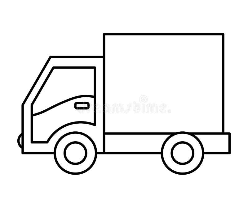 ic ne de camion conception de la livraison dessin de vecteur illustration de vecteur. Black Bedroom Furniture Sets. Home Design Ideas