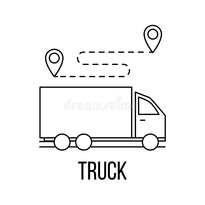 ic u00f4ne de camion ou style de logo de sch u00e9ma illustration de