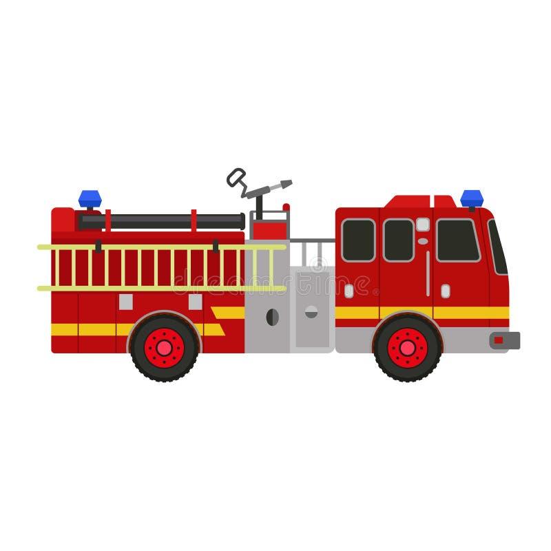 Ic?ne de camion de pompier, style plat illustration libre de droits