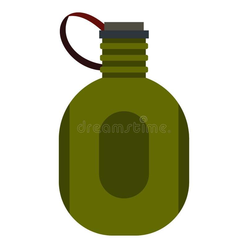 Icône de cantine de l'eau, style plat illustration stock