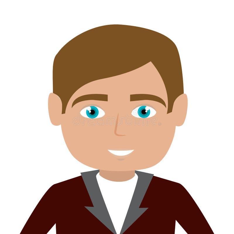 icône de caractère de réceptionniste d'hôtel illustration libre de droits