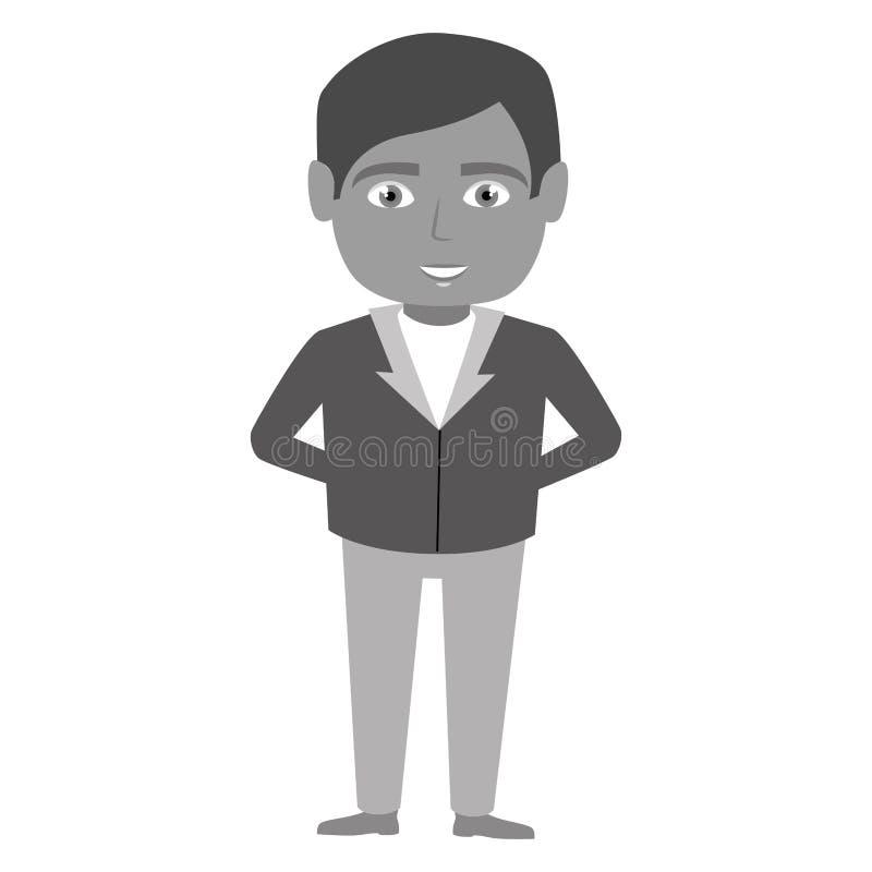 icône de caractère de réceptionniste d'hôtel illustration de vecteur