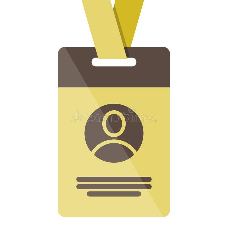 Icône de carte d'identité d'or illustration stock