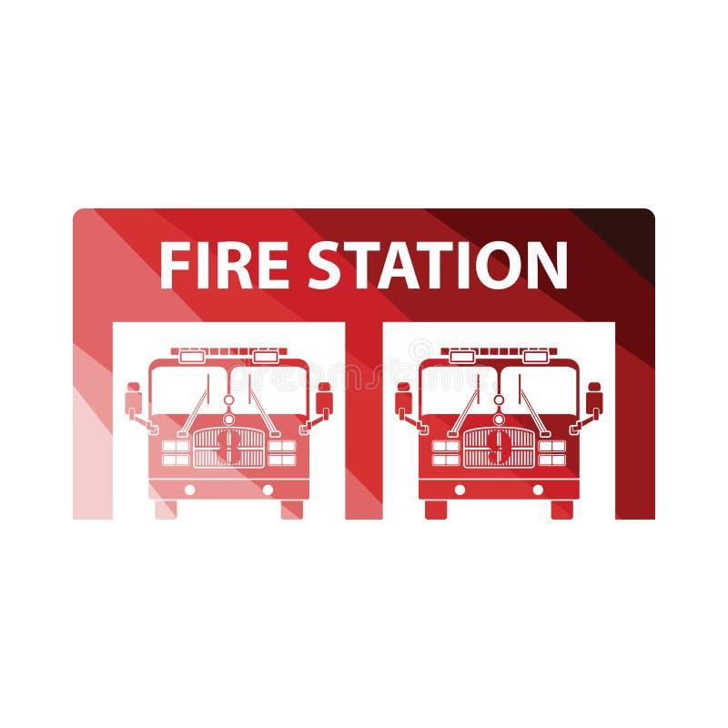 Ic?ne de caserne de pompiers illustration de vecteur
