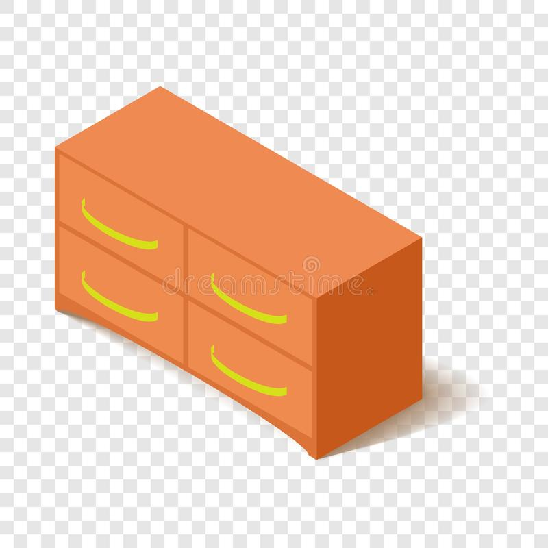 Ic?ne de casier de bureau, style 3d isom?trique illustration libre de droits