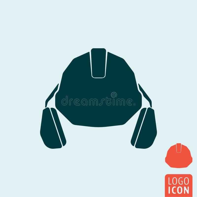 Icône de casque antichoc illustration stock