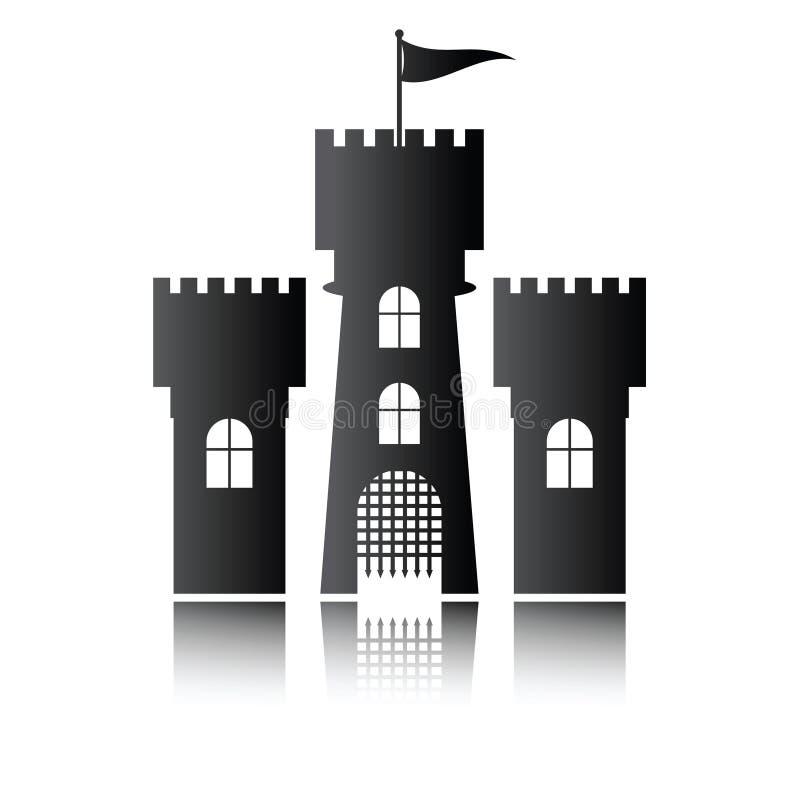 Icône de château d'isolement,  illustration de vecteur