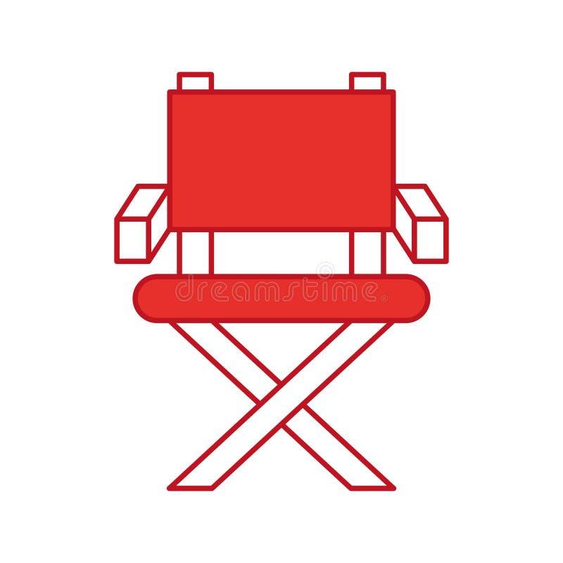 Icône De Chaise De Cinéaste Illustration de Vecteur - Illustration ...