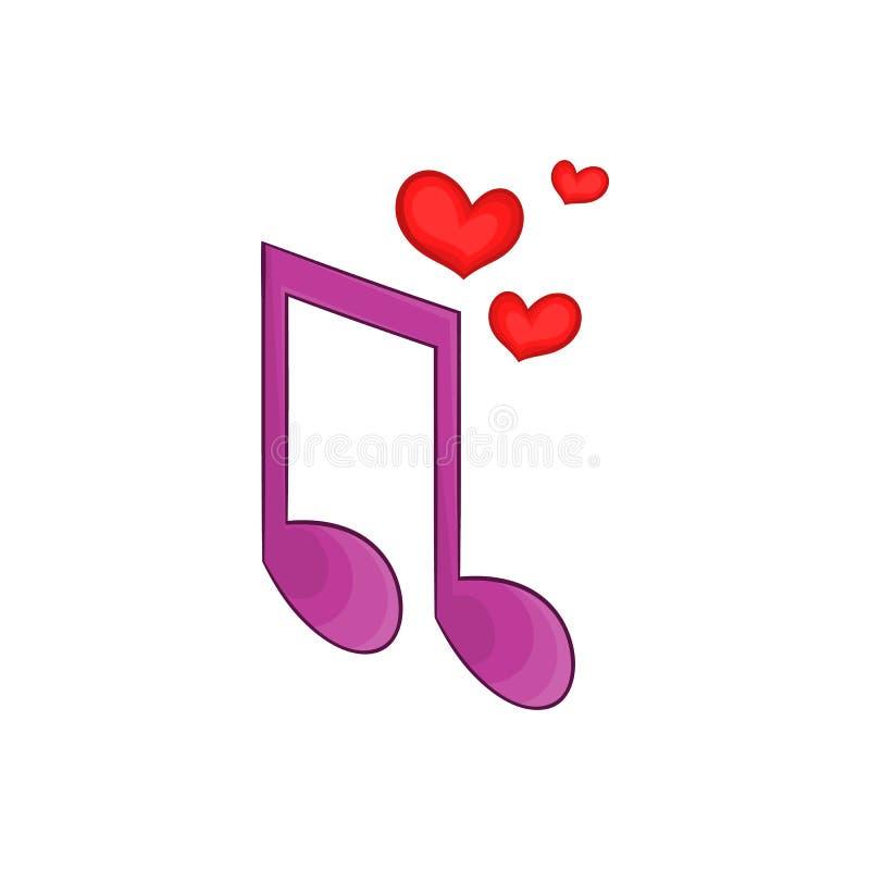 Icône de chanson d'amour, style de bande dessinée illustration stock
