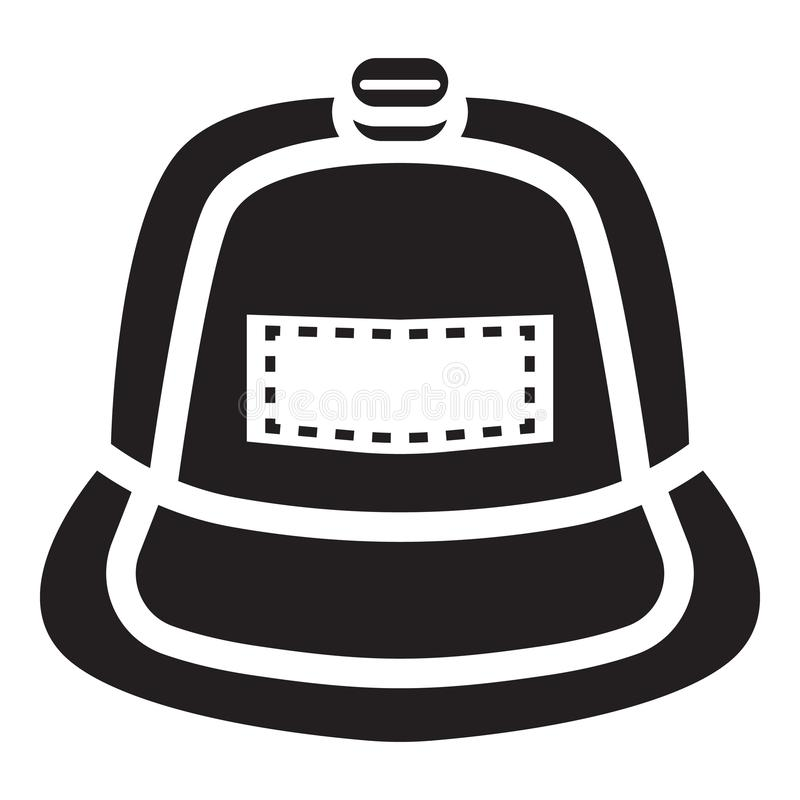 Ic?ne de chapeau de coup sec et dur, style simple illustration stock