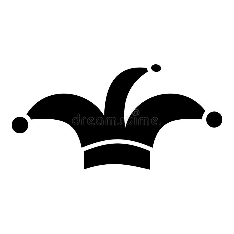 Icône de chapeau de clown, style simple illustration de vecteur
