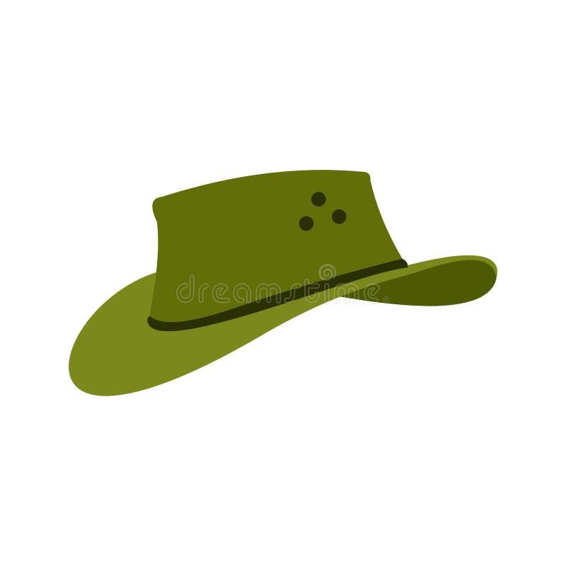Icône de chapeau de cowboy, style plat illustration de vecteur