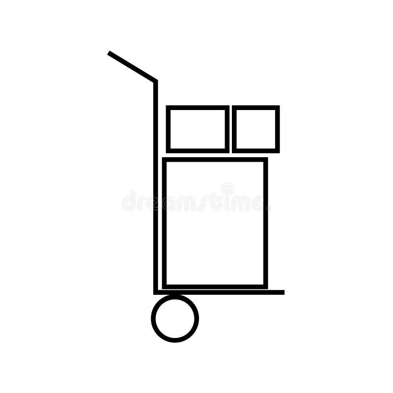 Icône de charette à bras illustration de vecteur