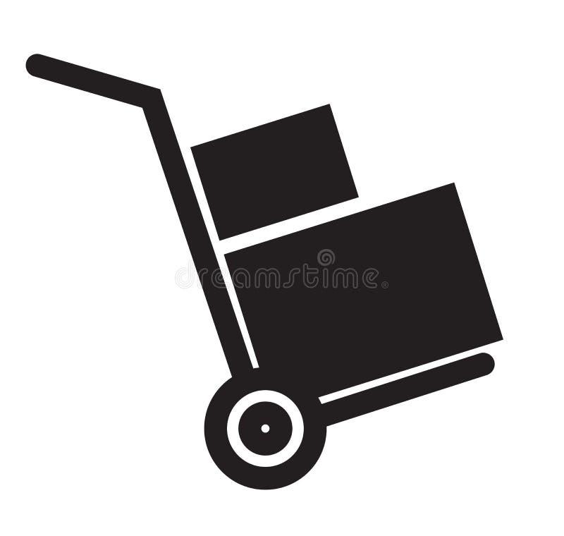 Icône de charette à bras sur le fond blanc illustration libre de droits