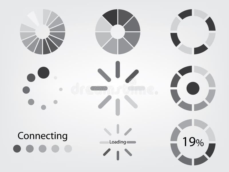 Icône de chargement illustration de vecteur
