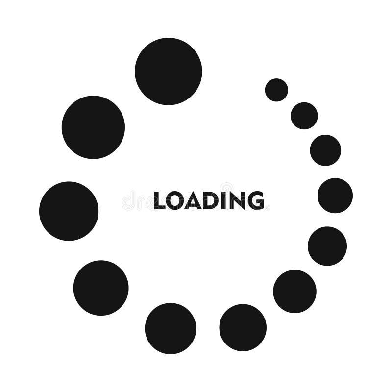 Icône de chargement dans le style simple illustration stock