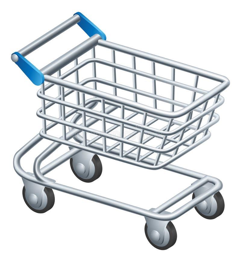 Icône de chariot à achats illustration stock
