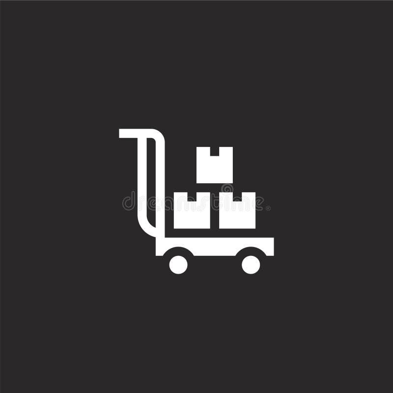 Ic?ne de chariot de la livraison Icône remplie de chariot de la livraison pour la conception de site Web et le mobile, développem illustration de vecteur