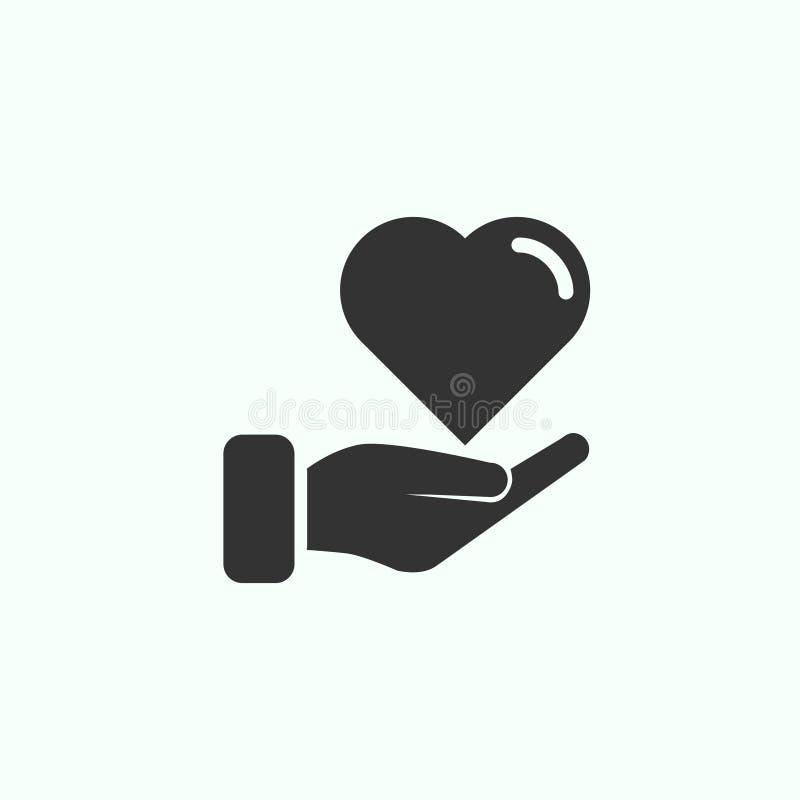 Icône de charité images stock