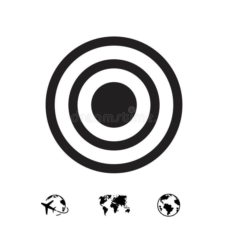 Icône de cible image libre de droits