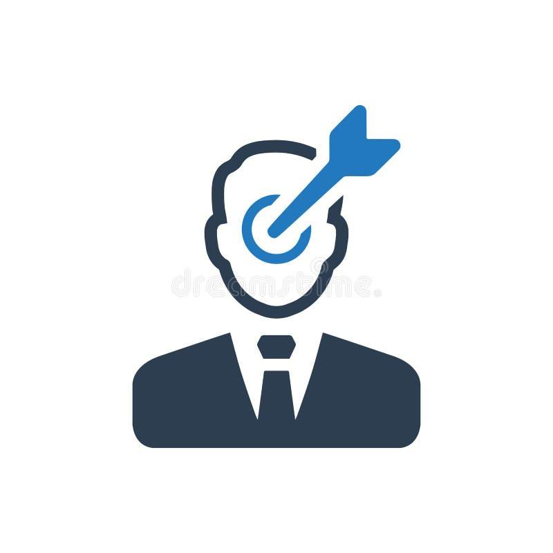 Icône de cible d'affaires illustration stock