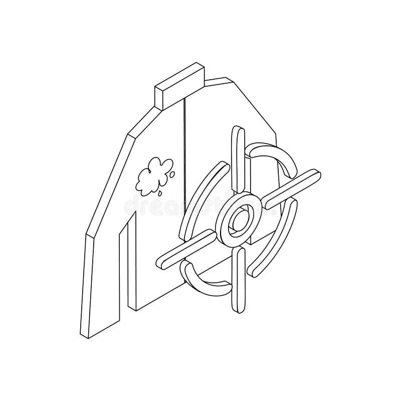 Icône de cible de Paintball, style 3d isométrique illustration stock