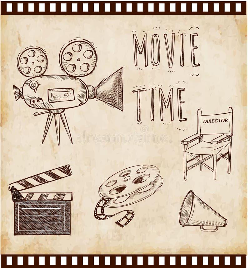 Icône de cinéma d'illustration de vecteur illustration libre de droits