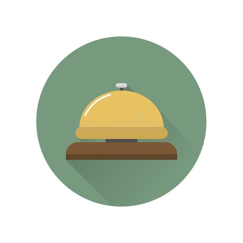 Icône de cloche de réception illustration de vecteur