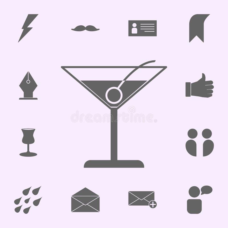 Ic?ne de cocktail ensemble universel d'ic?nes de Web pour le Web et le mobile illustration de vecteur