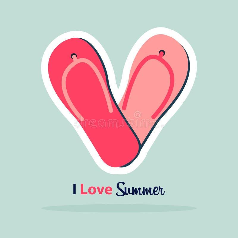 Icône de coeur dans la conception plate Symbole d'amour Signe de jour du ` s de Valentine Logo sur le fond bleu avec l'ombre illustration de vecteur