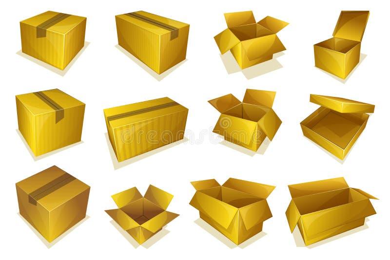 ic ne de colis de carton illustration de vecteur illustration du barre 61089939. Black Bedroom Furniture Sets. Home Design Ideas