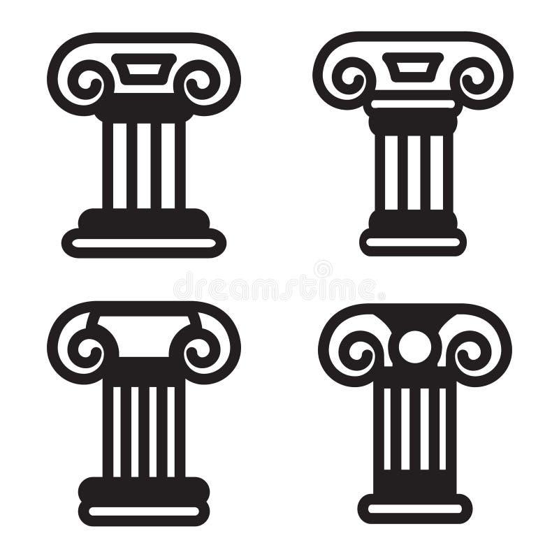 Icône de colonne dans quatre variations Vecteur ENV 10 illustration stock