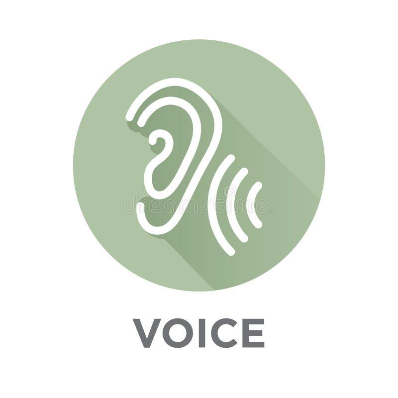 Icône de commande de commentaire ou de voix avec des images d'onde sonore illustration libre de droits