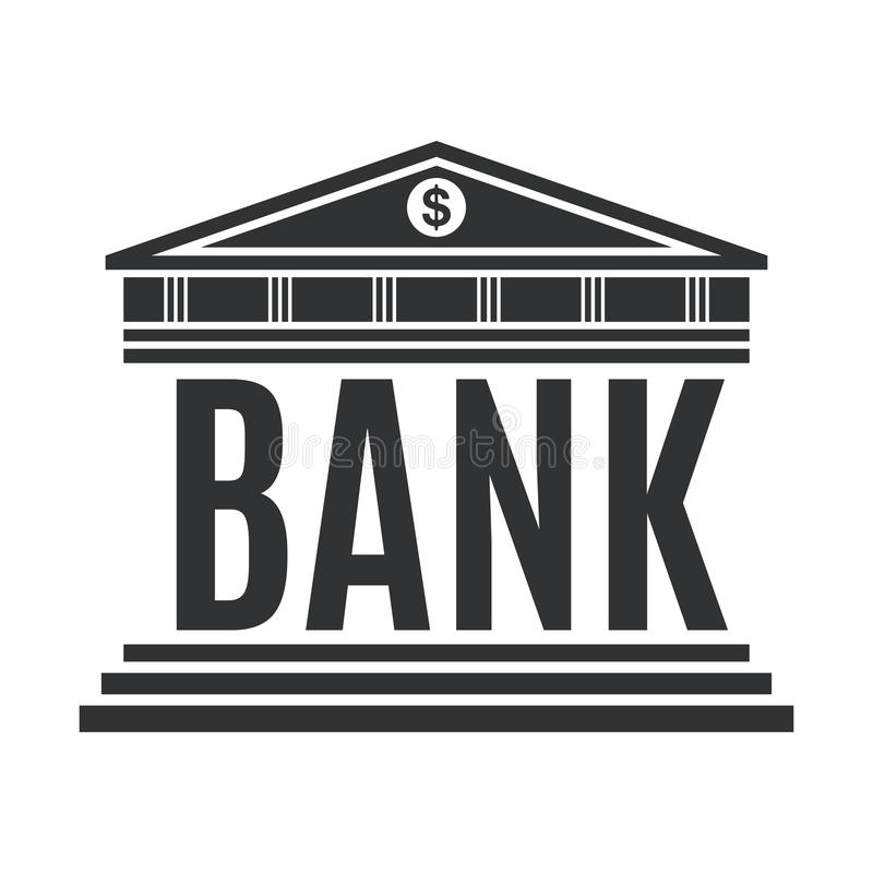 Icône de concept de banque d'isolement sur le fond blanc illustration stock