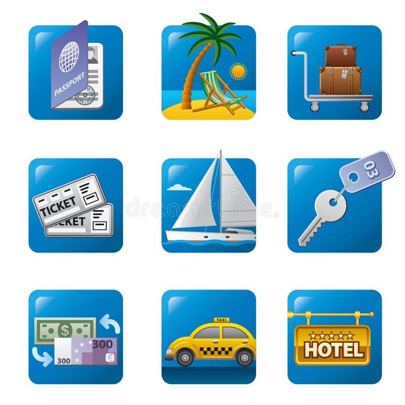 Icône de concept de voyage illustration stock