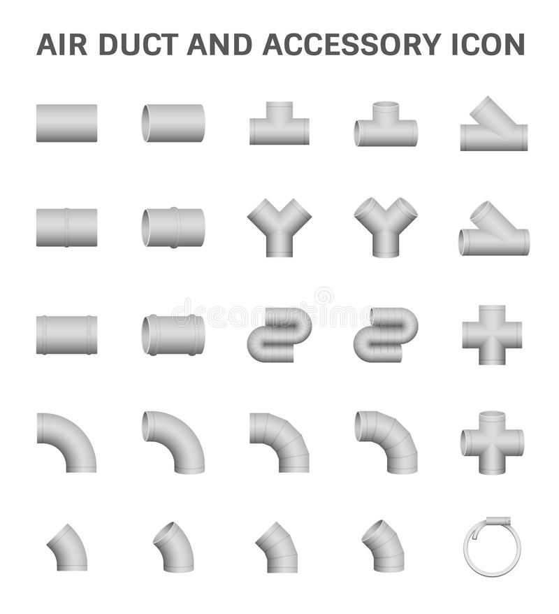 Icône de conduit d'air illustration stock