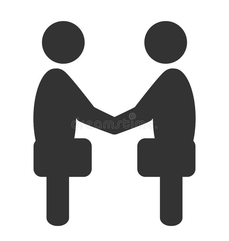 Icône de conjoncture économique d'étiquette de salutation d'isolement sur le blanc illustration libre de droits