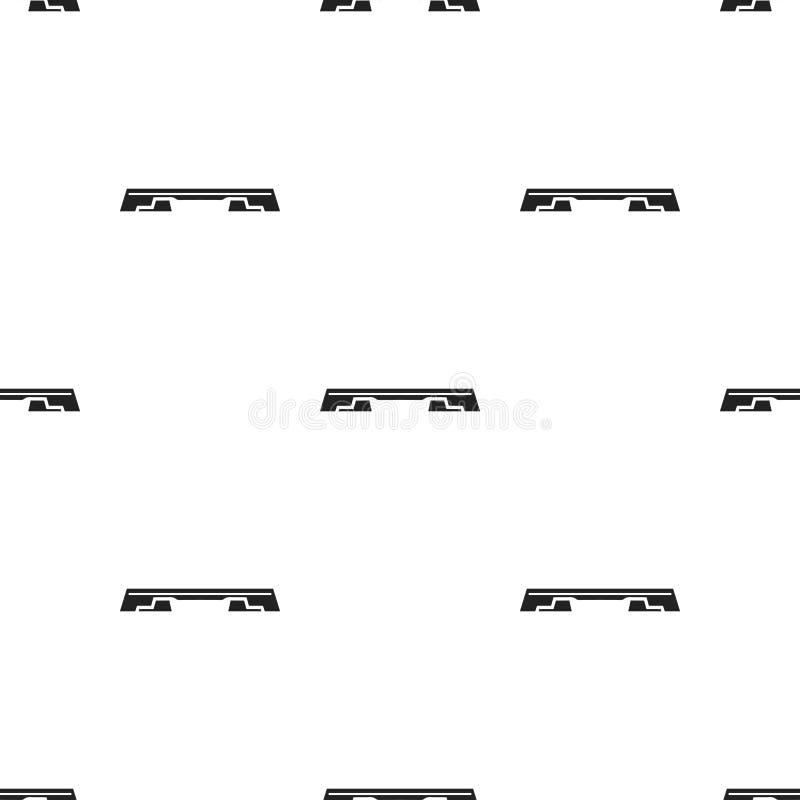 Icône de conseil d'étape de forme physique dans le style noir d'isolement sur le fond blanc Illustration de vecteur d'actions de  illustration libre de droits